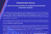 Comunicado oficial: Insaforp desarrolla teletrabajo