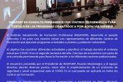 Reunión virtual con representantes de Centros de Formación